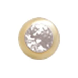 14 Karat Gold 3mm Kugel mit Kristall 1.6mm Gewinde