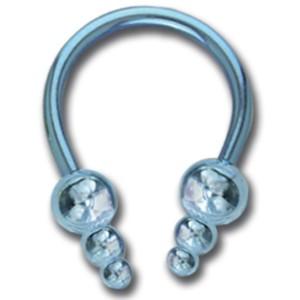 Circular Barbell aus Titanium mit Aufschraubspitze