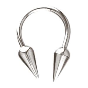 Hufeisen Piercing aus Titan in 1.0 bis 1.6mm Stärke, Spike TD