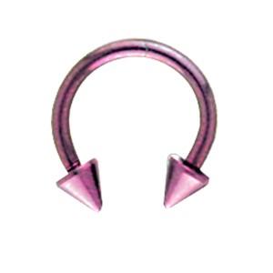 Hufeisen Piercing aus Titan in 1.0 und 1.2mm Stärke, Spike US