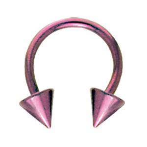 Hufeisen Piercing aus Titan in 1.6mm Stärke, Spike US