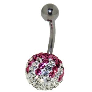 Bauchnabel Körperschmuck Piercing mit  Kristallen in1.6x6mm / 1.6x8mm / 1.6x10mm / 1.6x12mm / 1.6x14mm Länge, 80-13