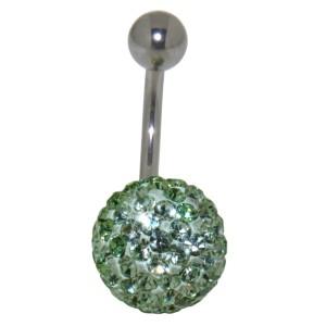 Bauchnabel Körperschmuck Piercing mit  Kristallen in1.6x6mm / 1.6x8mm / 1.6x10mm / 1.6x12mm / 1.6x14mm Länge, 80-5