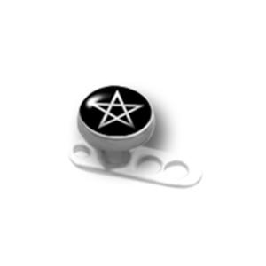 Titanaufsatz für Dermal Anchor mit einem Stern