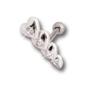 Helix Ohrpiercing mit Herz Design