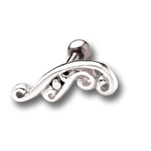 Helix Ohrpiercing mit 925 Sterling Silber tattoo design 17-1
