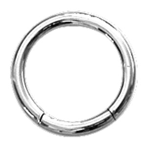 Titan Segment Ring 4.0x14mm, hellblau
