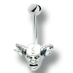 Bauchnabel Körperschmuck Piercing mit Teufel Design, 1.6x6mm / 1.6x8mm / 1.6x10mm / 1.6x12mm / 1.6x14mm