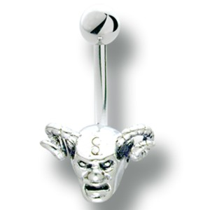 Bauchnabel Körperschmuck Piercing mit Teufel Design