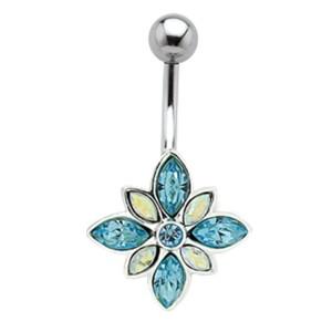 Bauchnabel Piercing mit Blüten Motiv 461