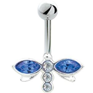 Bauchnabel Piercing mit 925  Silber Libellen Motiv 474