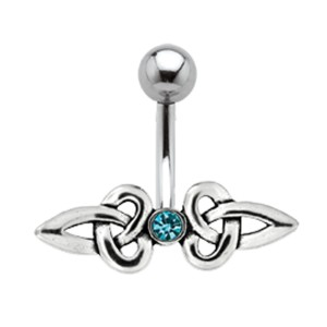 Bauchnabel Körperschmuck Piercing mit Silber Design 535