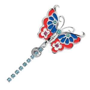 Piercing Bauchnabel Schmetterling mit Kesselkette aus Chirurgenstahl