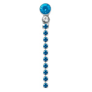 Bauchnabel Piercing, minimalistisches Design Strasskette