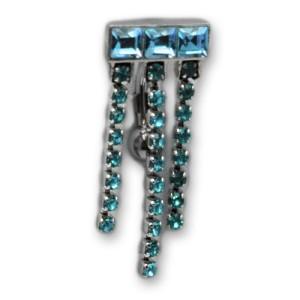 Upper Belly Shield Chain mit Strassketten und Swarovski