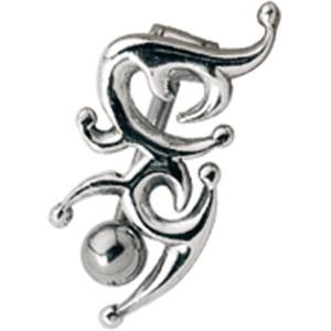 Bauchnabel Piercing mit einem keltischen Motiv aus 925 Silber