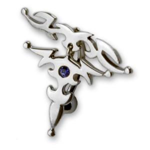 Bauchnabel Piercing mit einem filigranen keltischen Motiv