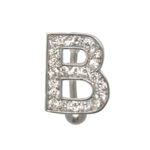 Buchstaben-Bauchnabelpiercing B mit Stahl oder Titanbanane