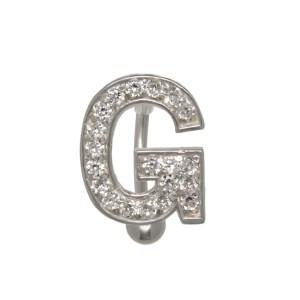 Buchstaben-Bauchnabelpiercing G mit Stahl oder Titanbanane, 1.6x6mm / 1.6x8mm / 1.6x10mm / 1.6x12mm / 1.6x14mm