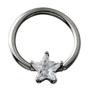 BCR Klemmring mit Stern Kristall Einsatz