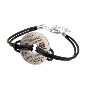 LASERGRAVUR: Armband mit Gravur Liebe in diversen Sprachen - Liebe international