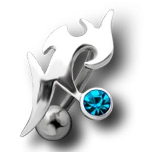 Bauchnabel Piercing mit einem Tribal Design