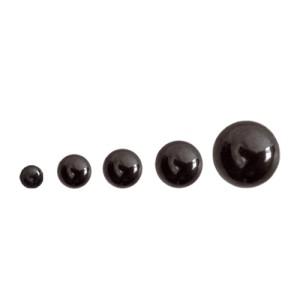 Piercing Kugel schwarz mit Schraubgewinde