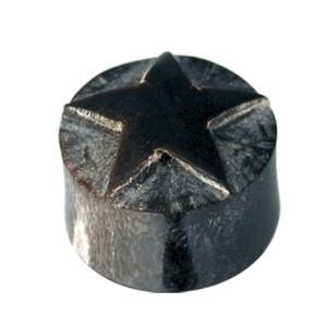 Organix Plug mit Schnitzerei, schwarzer Stern