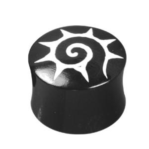 Organix Plug mit einem Spiralen Motiv w/s, Größe wählbar