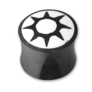 Organix Plug mit einem Sonnen Motiv, Größe wählbar
