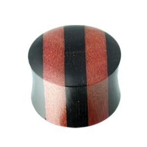 Ohrlochdehner Plug aus Eisenholz und Rosenholz, Größen wählbar