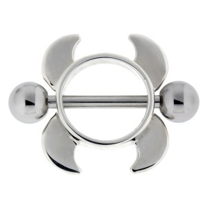 Brustwarzenschild aus Sterling Silber