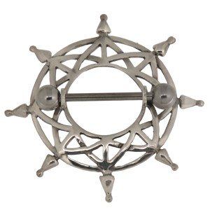 Brustwarzenpiercing mit Silber Design