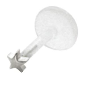 Bioplast Stecklabret mit kleinem 925 Sterling Silber Stern