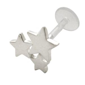 Bioplast Stecklabret mit drei Sternen, 1.2x6mm / 1.2x8mm / 1.2x10mm