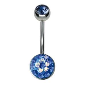 Crystallines Bauchnabel Körperschmuck Piercing 10mm Schmuckelement