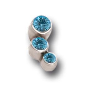 Schraubaufsatz für 1.2mm Labret drei Kristalle