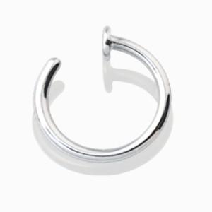 piercingschmuck - Offener Nasen- oder Lippenring in zwei Stärken aus Chirurgenstahl in drei Größen