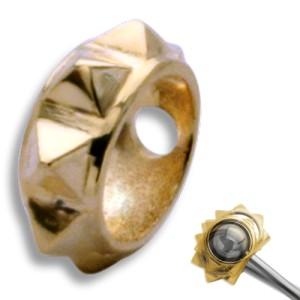 Rahmen für Piercingkugel - mit Spikes