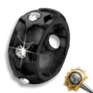 Rahmen für Piercingkugel - kleine Sternchen