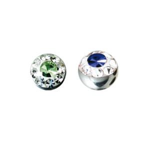 Schraubkugel mit vielen Kristallen