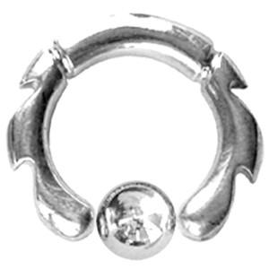 Ball Closure Ring mit Dschungel Motiv 3,0mm Stärke - Dschungel