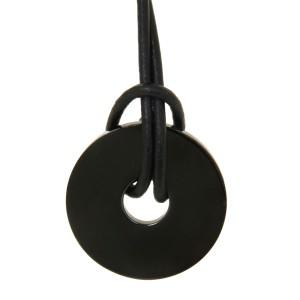 Anhänger Scheibe Edelstahl, Durchmesser 29mm - schwarz