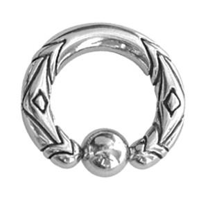 Ball Closure Ring mit Motiv 3.0mm Stärke