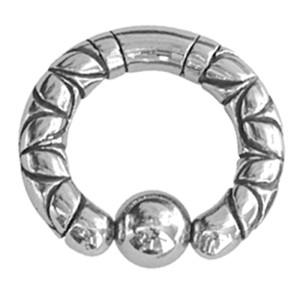 Ball Closure Ring mit Motiv 4.0mm Stärke