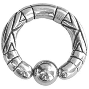 Ball Closure Ring mit Motiv 5.0mm Stärke