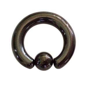 Piercing Klemmring schwarzer Chirurgenstahl in 2 bis 4mm