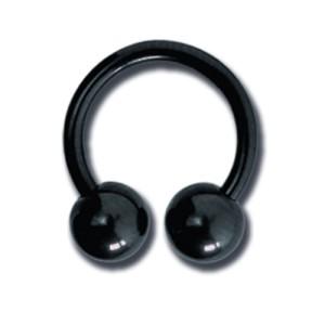 piercingschmuck - Schwarzer Circular Barbell von 1.2 bis 1.6mm