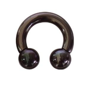 Schwarzer Stahl Hufeisen Piercing von 2.0 bis 4.0mm