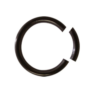 Schwarzer Chirurgenstahl Glatter Segment Rings 1.2x10mm